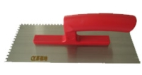 抹泥刀(一体成型塑料柄/高碳钢刀片/方齿)