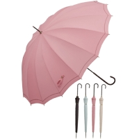 Embroidered Stick Umbrella