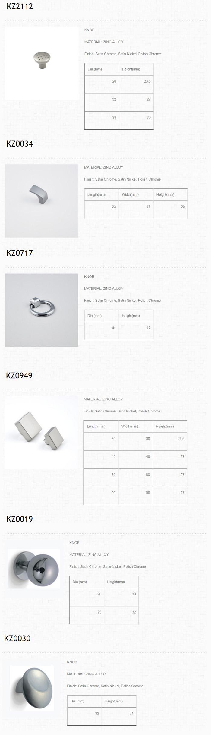 Furniture hnadles & knobs-Zinc alloy knob