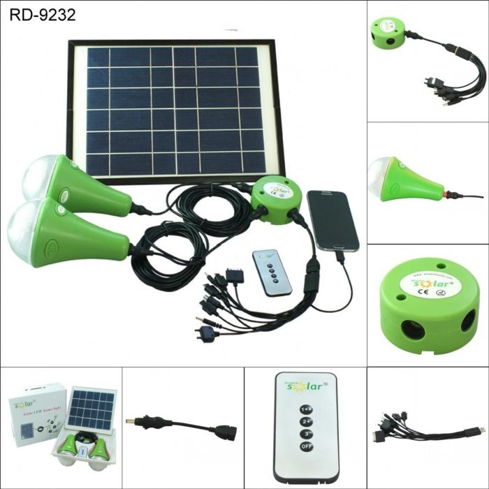 Solar LED Home Lighting System