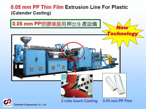 0.05 mm PP塑胶薄膜用押出生产设备