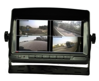 7 Car Rear-View  LCD QUAD Monitor