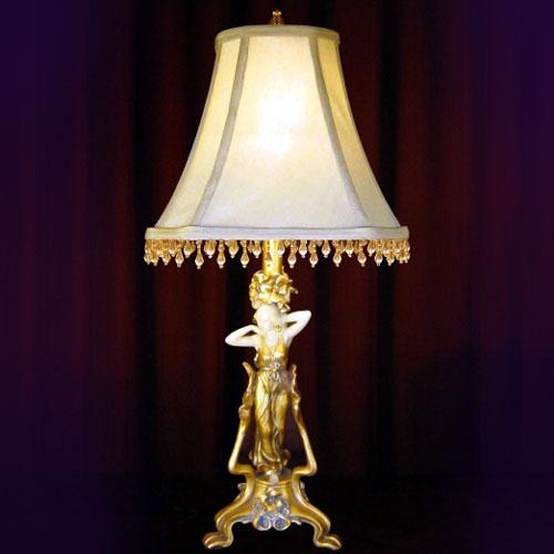 NOUVEAU LADY TABLE LAMP