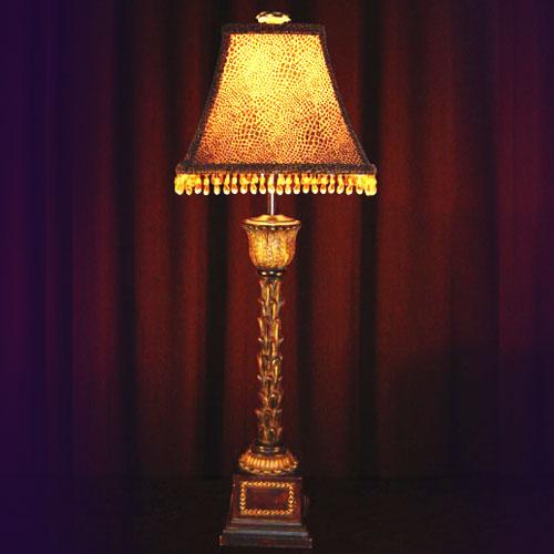 PRINCELY PALM TREE BUFFET LAMP
