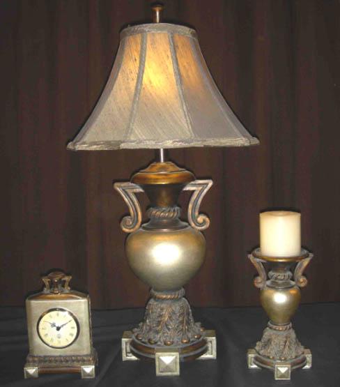 LAUREL TABLE LAMP / CLOCK / CANDLE HOLDER