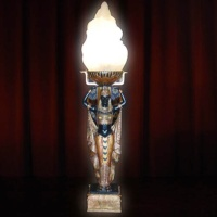 EGYPT SERVING GIRL TABLE LAMP