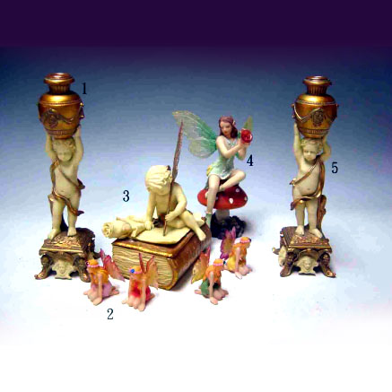 CANDLE HOLDER & BOX & FAERIE STORY