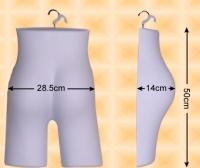 Free-Hanging Ladies' Hip Form—Extra Rised