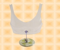 Free-Hanging Transparent D-cup Breast Form With Stand