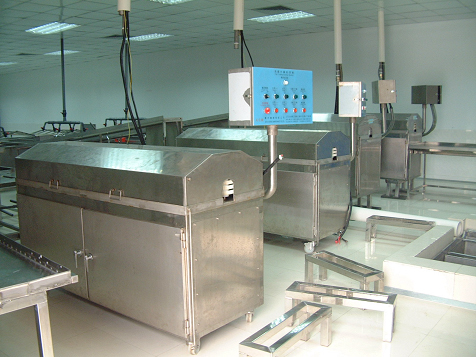 Fast fish-treatment and grading machine