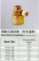 One Shut Coupling(With Access Valve)