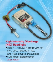 High Intensity Discharge head lamp conversion kits and working lamp