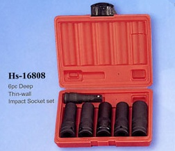 6pc Deep Thin-wall Impact Socket set