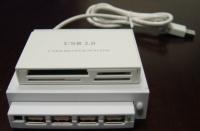 """3.5""""內接式彈出殼結合USB 4個接口集線器不含電源"""