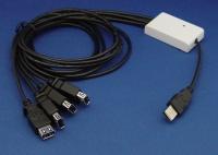 USB 4 孔接口線型集線器