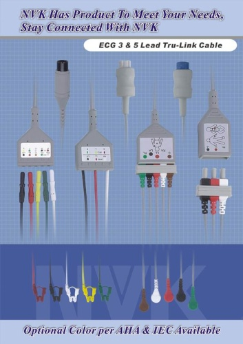 监测5个心电图讯号
