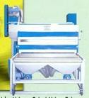 Flat glass automatic sand striking machine