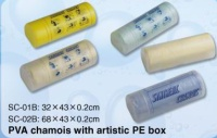 PVC Chamois with Artistic PE Box