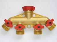 Comfort grip 4 way tap screw on