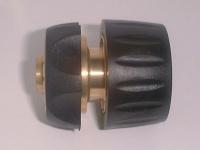 brass connector w/rubber grip