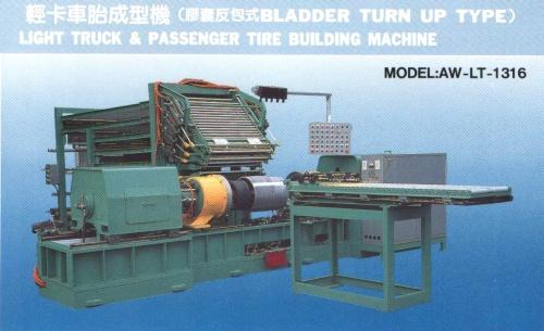Light truck & passenger tire building machine (Bladder turn up type)