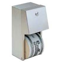 Surface Mounted Dual Rolls Toilet Paper Dispenser S/S