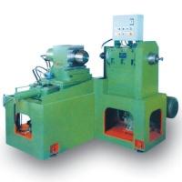 Horizontal finishing machine for ball valve opening tank
