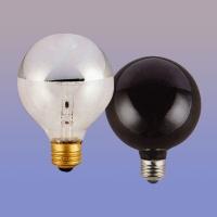Globe Bulbs, Half-Silver Mirrored Bulbs
