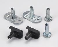 Metal Castor Socket Zinc Plated or Black
