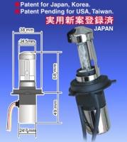 H4 Hi/Lo beam HID bulb