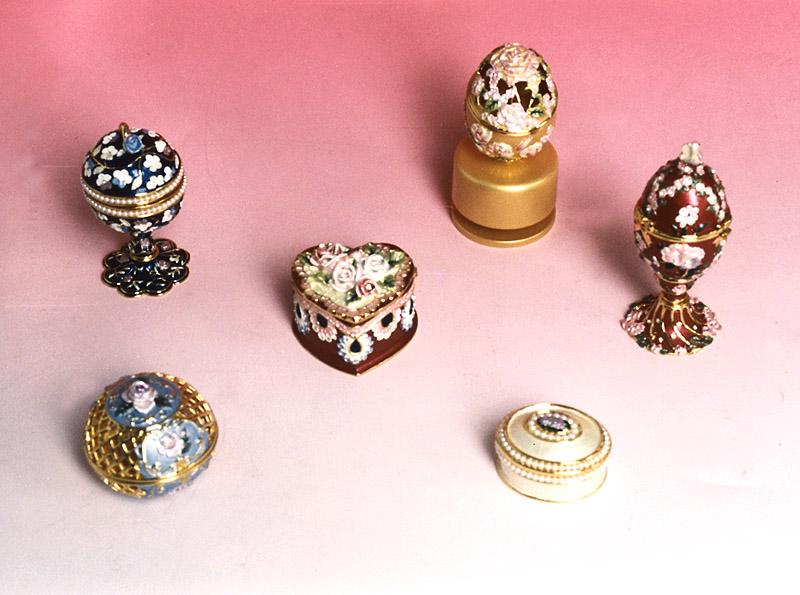 Metal Casting Jewelry Box & Egg