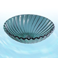 Glass Washbasin-Green(Spiral Shell)