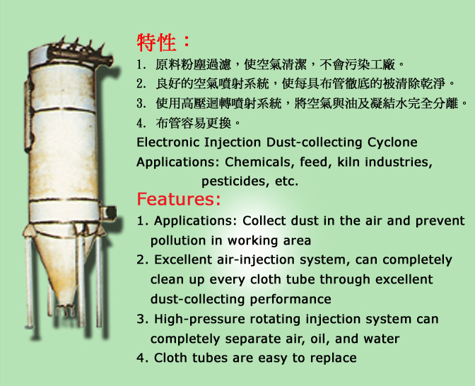 Electronic Injection Dust-collecting Cyclone