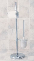 Traditional toilet brush caddy