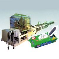 Wet Tissue Producing Machine Pop up filding type. This machine also has the function of folding typ