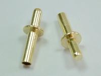 Brass flange rivets