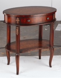 1 DRAWER OVAL TABLE