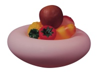 LED glass fruit bowl light