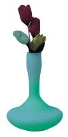 LED glass vase light