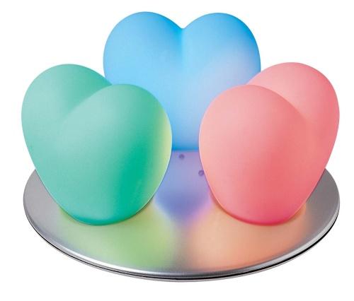 LED 3 heart shape rechargeable light