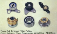 Timing Belt Tensioner/ Idler Pulley/ Clutch Release/ Wheel Bearings and Wheel Hub + ABS Rings