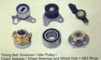 Timing Belt Tensioner/ Idler Pulley/ Clutch Release/ Wheel Bearings and Wheel Hub + ABS Rings