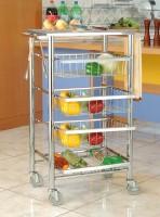 不锈钢厨房餐车