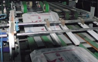 Fully Automated Pasting the neck of plastic woven packs
