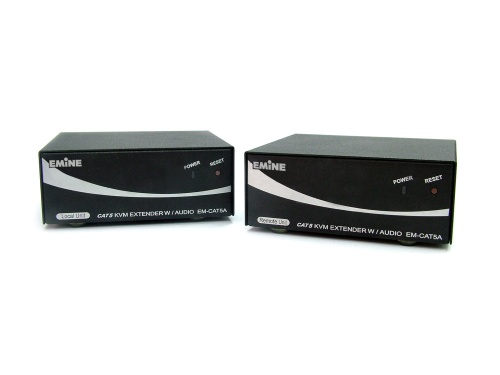CAT5 KVM EXTENDER with AUDIO Onboard