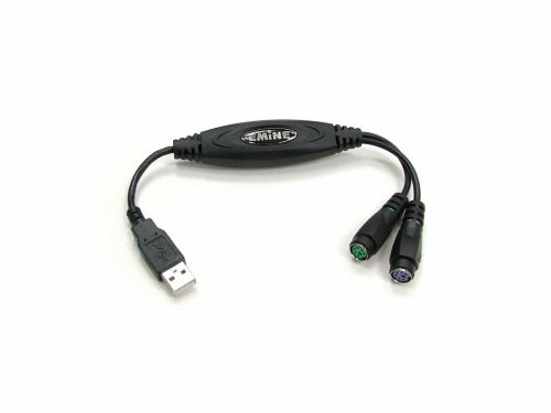 USB to PS/2 Keyboard & Mouse Adapter