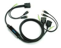 VGA-USB Cable-KVM with AUDIO & USB 2.0 Bridge!