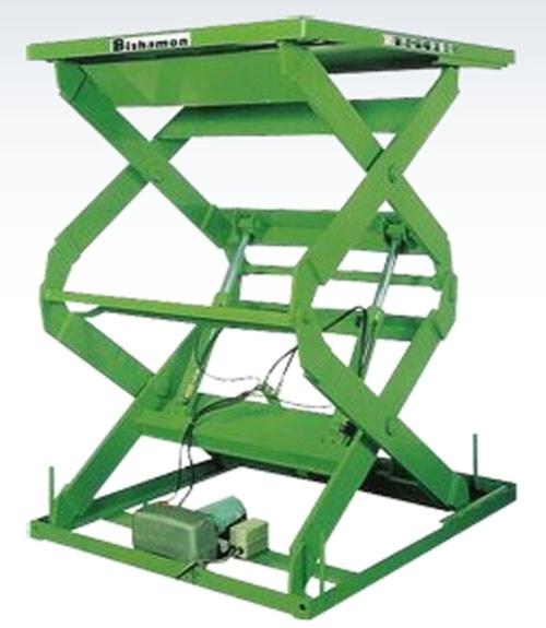 重量型油压昇降平台 - 双叉式