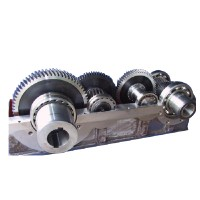 Electric eliminator gear reducer for injection machine