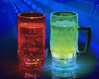 flashing photoelectric glass cups